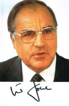 Helmut Kohl Autograph Signed Photo